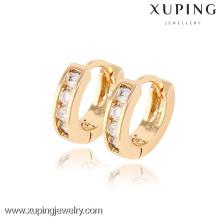 90189- Xuping Huggie Brincos Jóias Moda Banhado A Ouro Brincos Com Boa Qualidade