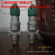 Acción directa de fuelle válvula reductora de presión