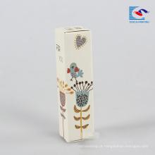 caixa de presente de impressão de batom de impressão especial para senhora