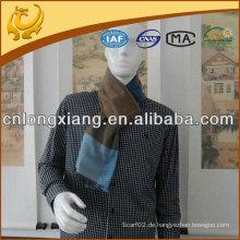 Heißer Verkauf reales Material gebürsteter gewebter Mens silk Schal mit Quasten