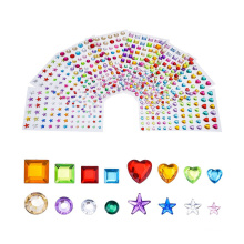 Promotional Various Self Adhesive Durable Rhinestone Crystal Face Sticker