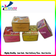 Colorful Card Box with Foil Stamping Cosmetic Box