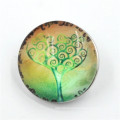 Various Designs Round Snap Buttons with Tree Logo in Dongguan