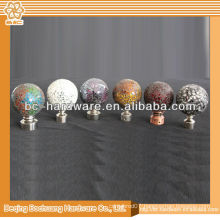 Iron curtain finial ,aluminum curtain rod finial ,crystal curtain rod finial , zinc alloy curtain finial
