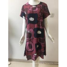 vestido de algodón / nylon estampado