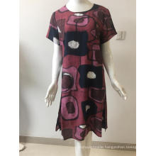 printed cotton/nylon dress