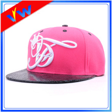 Snake Skin Brim 3D Embroidery Acrylic Snapback Cap