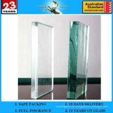 6.38-42.3mm Vidro laminado PVB francês verde com AS / NZS2208