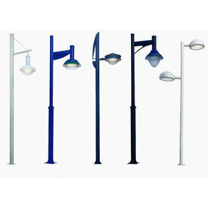 Garden Lamp Post with Single Arm