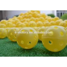 Balles de Golf Indoor de Traning marque Multi couleurs aléatoires Air évents Golf Ball pratique plastique en gros