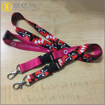 Hight quanlity polyester lanyard badge ditarik