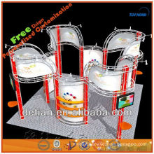 3x6 Glass floor expo show displays design for trade show