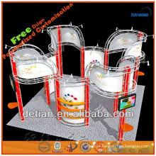 Exposição do expo do assoalho de vidro 3x6 indica o projeto para a feira profissional