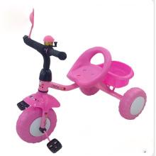 El color rosado embroma el triciclo, triciclo de los niños, triciclo del bebé