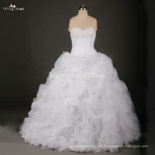 RSW734 blanco patrones de volantes vestido de novia de la novia