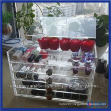Transparent 5 Drawers Fashionable Acrylic Makeup Beauty Box