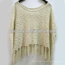 13STC5541 Mesdames dernière conception pull poncho tricoté