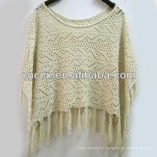 13STC5541 senhoras mais recente projeto pullover malha poncho