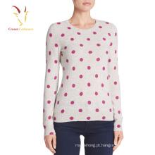 Desenhos de impressão de suéter de cashmere feminino