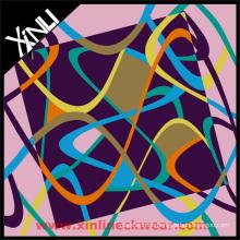 Benutzerdefinierte farbige Designs Siebdruck Seidenschal