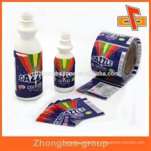 Feito em Guangdong atacado encolher embalar etiquetas de garrafa para decolorizer