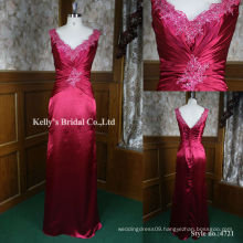 2013 new luxury satin pattern embroidery evening gown