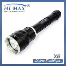 HI-MAX new arrival 200m irradiation lotus attack head brightest led flashlight torch