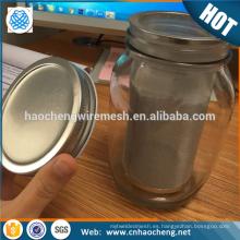 Precio de fábrica 64 oz 2 cuartos de galón jarra de albañil de acero inoxidable cafetera de café en frío tubo de filtro de fabricante
