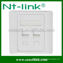 86 Type RJ45 Double face Faceplate