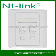 86 Type RJ45 Dual Port Faceplate