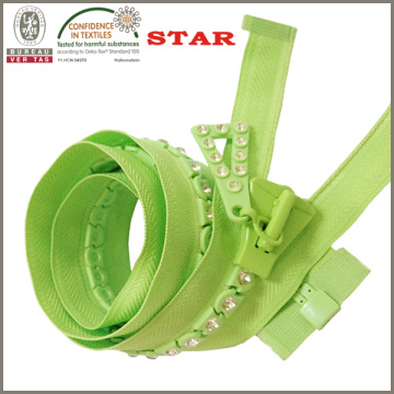 8 Diamond Zipper for Garment