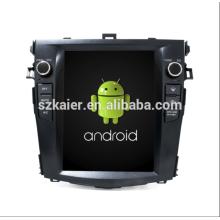Núcleo Octa! Dvd do carro Android 8.1 para TOYOTA COROLLA com 9 polegadas tela capacitiva / GPS / Link Mirror / DVR / TPMS / OBD2 / WIFI / 4G