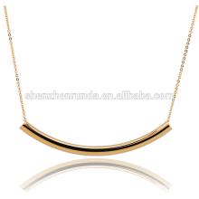Горячие ювелирные изделия позолота польский изогнутый бар ссылка цепи ожерелье