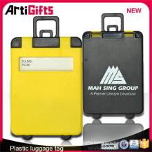 Correa de encargo barata de la etiqueta del equipaje de plástico
