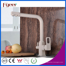 Fyeer Современный 3 Способ Латунь Кухонный Кран Фильтр