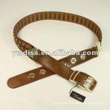 Cadena trenzada ancha Cinturón de cuero genuino