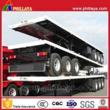 3-Axles 60 Tons 40FT Flatbed Platform Container Semi Trailer