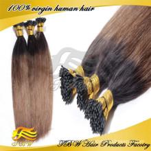 Preço de fábrica 100% remy remy 1g vara ponta extensões de cabelo russo eu derrubar extensões de cabelo por atacado