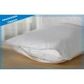 Protecteur d'oreiller de literie de polyester de coton d'hôtel