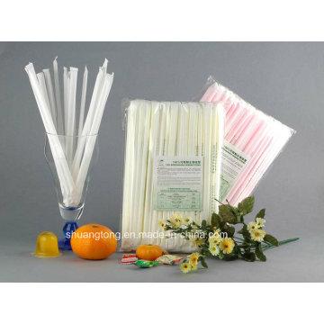 Biodegradable Compostable Eco-Friendly individual envuelto PLA paja (79002)