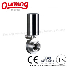 Sanitary Pneumatic Butterfly Valve with Threaded End
