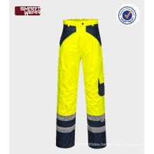 100% Polyester Reflective Safety uniform hi vis 3m pants Workwear Pants