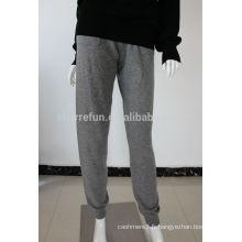 Luxueux 12GG plat tricoté 100% pure pantalons en cachemire bas prix