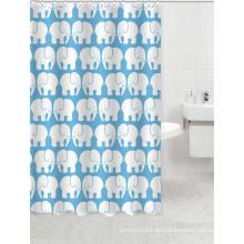 Wasserdichte Polyester Duschvorhang Stoff Stile mit Elefanten