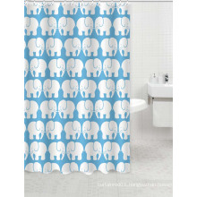 waterproof polyester shower curtain fabric styles with elephant