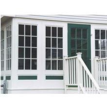 Ventana corrediza, ventana corrediza de PVC de alta calidad con rejillas