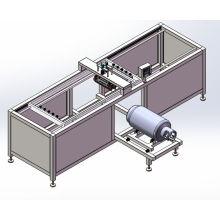 Máquina automática de la impresión de la pantalla redonda para el tanque de gas