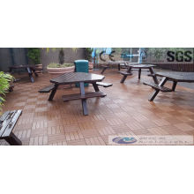 Wood Plasitic Composite Decking Tile with SGS, Fsc, CE Certificate