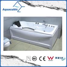ABS Board Freestanding Whirlpool Jacuzzie Massage Bathtub in White (AB0801)