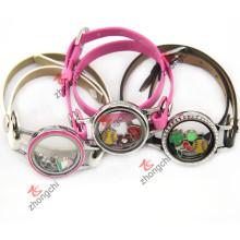 PU-Leder-Locket-Armband für junge Mädchen-Art- und Weisedekoration (ZC-BL194-196)